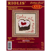 Heart Cake Counted Cross Stitch Kit